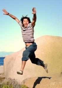 mann-springt